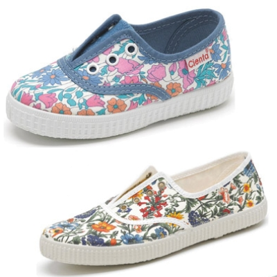 Girl's Sneakers for Spring with Flowers